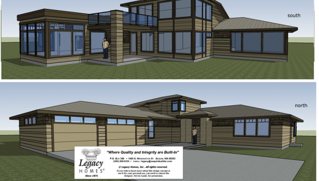 Legacy Homes Inc. Mountain View Home Southern Exposure sEquim WA