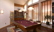 Legacy Homes custom design billiard room