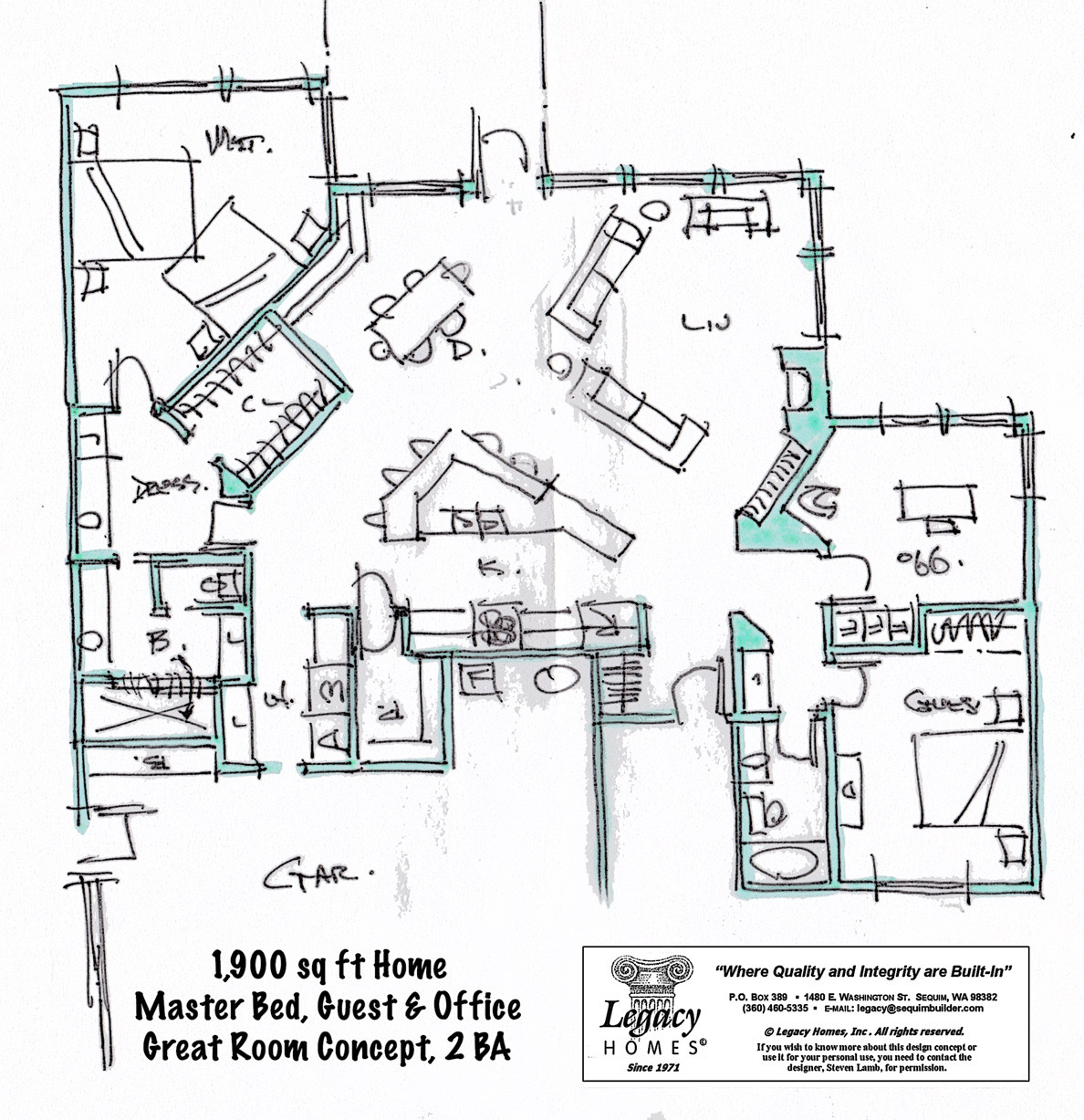 Floor plans under 2000 sq ft legacy homes for 2000 square foot floor plans